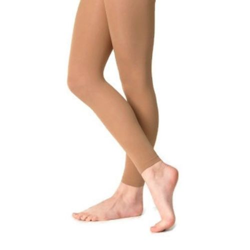 SILKY FOOTLESS DANCE TIGHTS COLOUR TAN 4 Adult Sizes S, M, L and XL